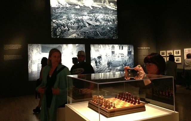 """Installation view of """"Stanley Kubrick"""" at LACMA (All photos by author)"""