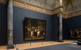 """The Night Watch"" in the renovated Rijksmuseum (Image via Holland.com)"