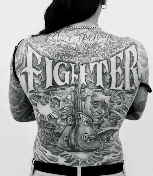 Back piece by Mister Cartoon