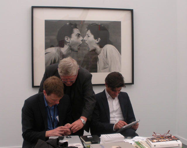 A booth at Frieze New York (all photos by the author for Hyperallergic)