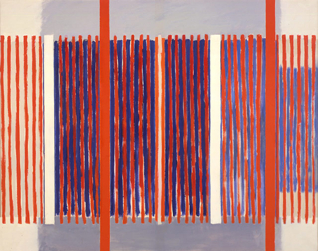 """Jack Tworkov, """"June 21"""" (1964), oil on canvas, 62 x 80 in, at Mitchell-Innes & Nash, New York"""