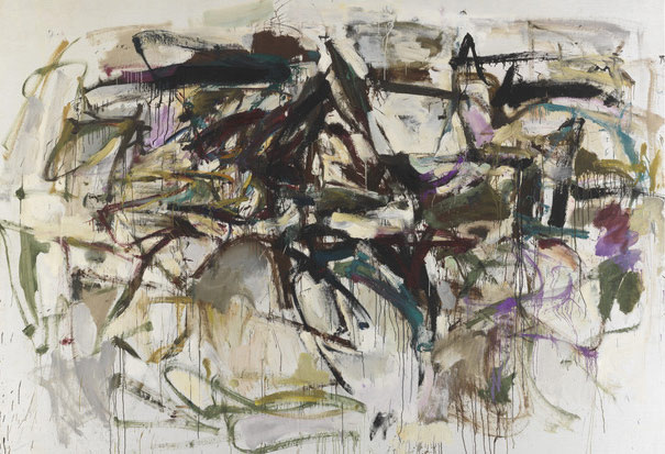 """Joan Mitchell, """"Untitled"""" (1956), oil on canvas, 80 1/2 x 109 1/2 in (© Estate of Joan Mitchell, courtesy Joan Mitchell Foundation and Cheim & Read, New York)"""