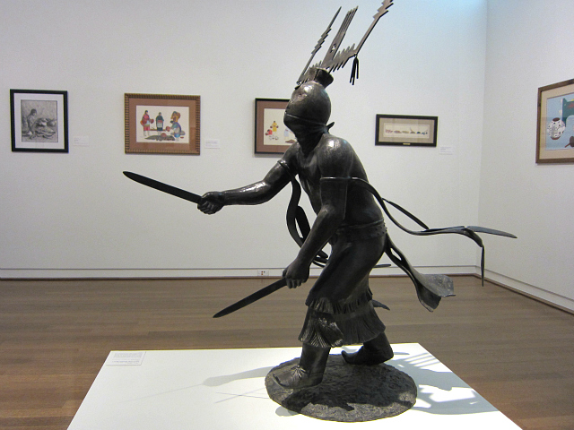 "Allan Houser, ""Dance of the Mountain Spirits I"" (1989), bronze"