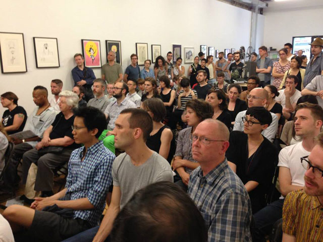 The crowd for the Dirty Looks event at Participant Inc. (all photos via Dirty Looks NYC on Facebook)