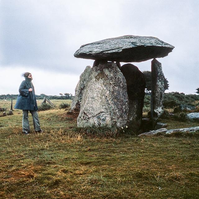 Nancy Holt at Pentre Ifan dolmen, Pembroke National Park, Wales, 1969. Photographed by Robert Smithson. ©Nancy Holt, VAGA, New York/DACS, London 2013