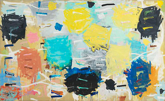 "Stanley Whitney, ""Sixteen Songs"" (1984), oil on linen, 66 x 108 in"