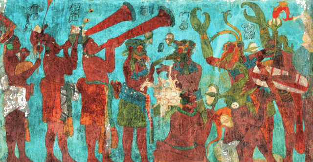 Mayan Mural, involving the Maya Blue pigment (via Wikispaces)