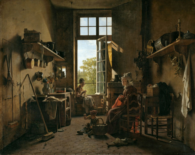 """Martin Drölling, """"L'intérieur d'une cuisine"""" (1815), believed to have been painted with Mummy Brown (via the Louvre)"""