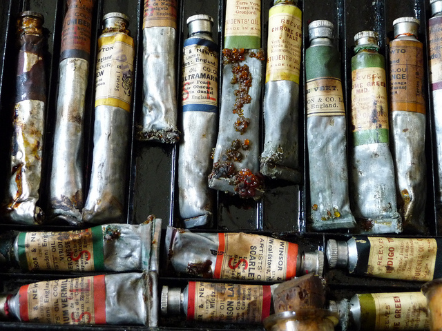 Vintage paint tubes (photograph by Jody Morris/Flickr user)
