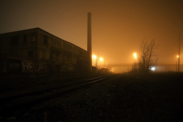 """Scott Hocking, """"Weatherbee at Milwaukee"""" from the series """"Detroit Nights"""" (2011)"""