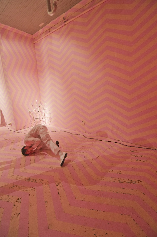 """Installation shot from the opening of """"No Vacancy"""""""