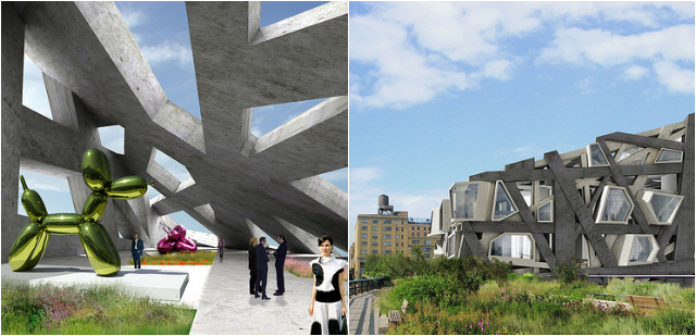 Axis Mundi's design for the Whitney at the High Line (courtesy Axis Mundi)
