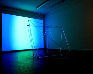 """Anne Senstad, """"UNIVERSALS,"""" installation view in """"Metamorphoses of the Virtual - 100 Years of Art and Freedom"""" at Officina delle Zattere, Venice (click to enlarge)"""