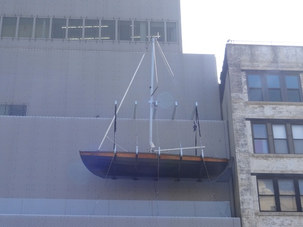 A new Chris Burden on the facade of the New Museum (image via blogs.artinfo.com)