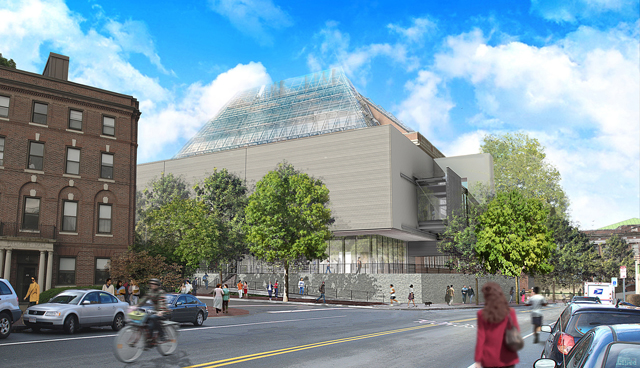 Rendering for the Harvard Art Museums, designed by Renzo Piano (via Harvard Art Museums)