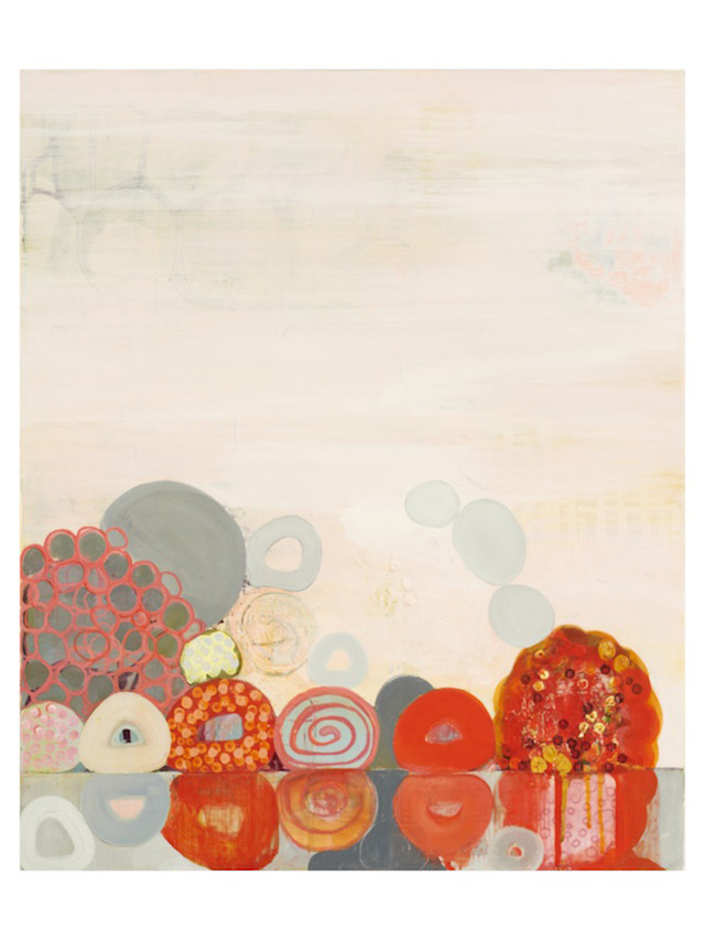 """Sarah Lutz, """"Nonpareils"""" (2011), 18 x 15 inches, oil on panel,  (Private Collection)"""