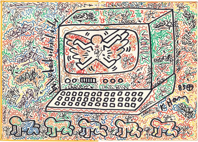 A work by Keith Haring in the Wong Collection (© Keith Haring Foundation)
