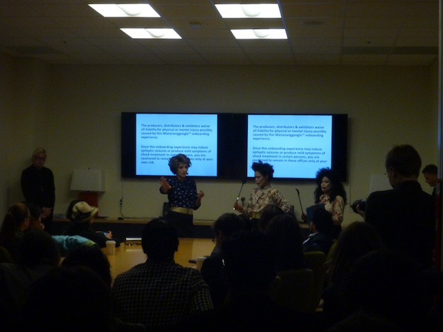The Manananggoogle executive team leads the onboarding session. Image by the author for Hyperallergic.