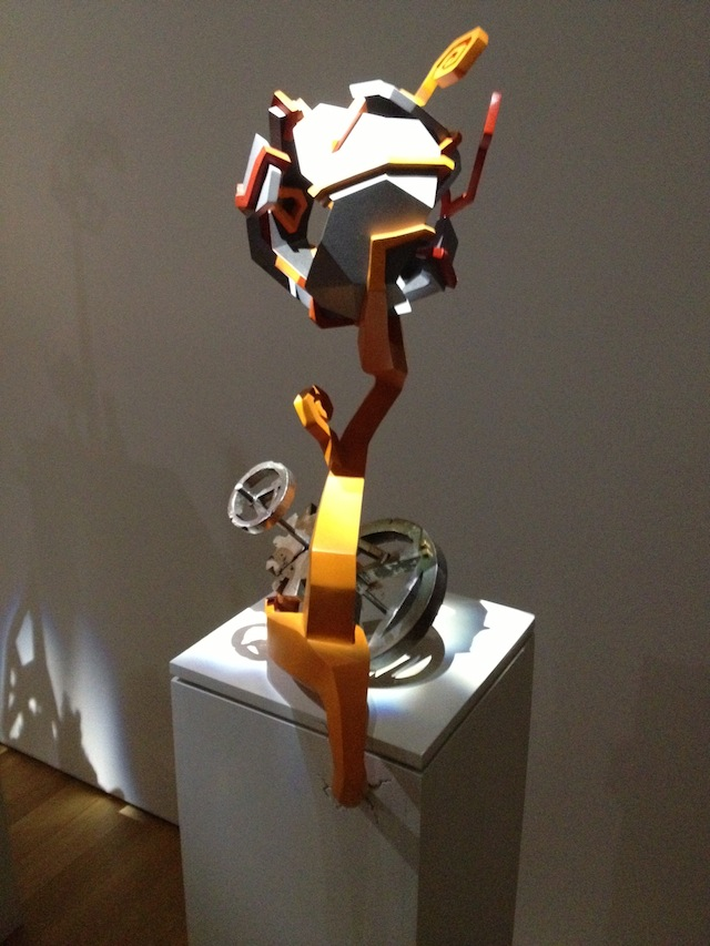 """Kathleen Studebaker, """"The Waste Land"""" (2013), cast iron, steel, brass, MDF, plywood, cast plastic, and acrylic paint"""