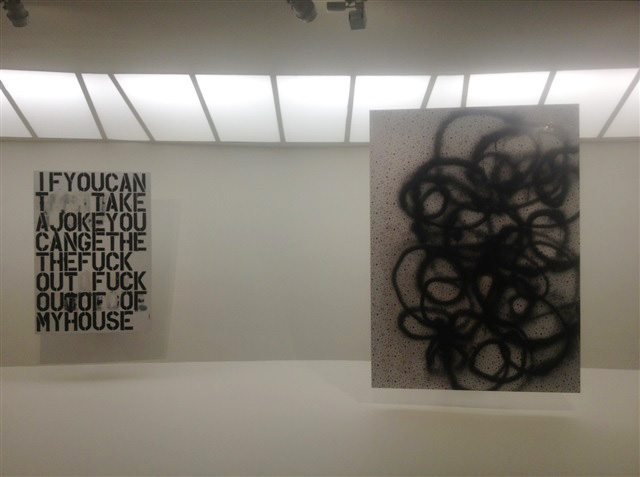 "Installation view, ""Christopher Wool"" at the Guggenheim"