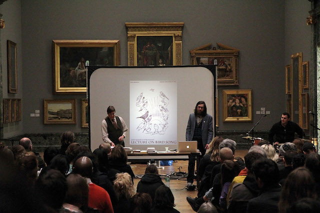 Andy Holden and Peter Holden, Lecture on Birdsong, Art Now live Tate Britain (2011)