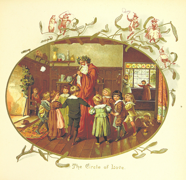 "An image by Eliza F. Manning from ""The Coming of Father Christmas"", published in 1894."