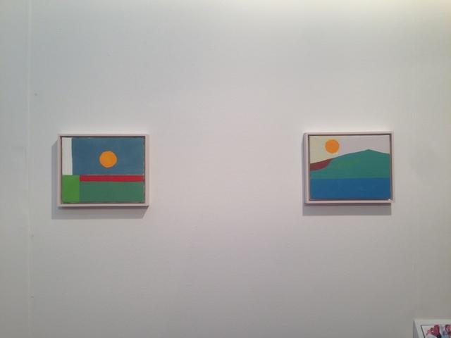 "Etel Adnan, both ""Untitled"" (2012) at Callicoon"