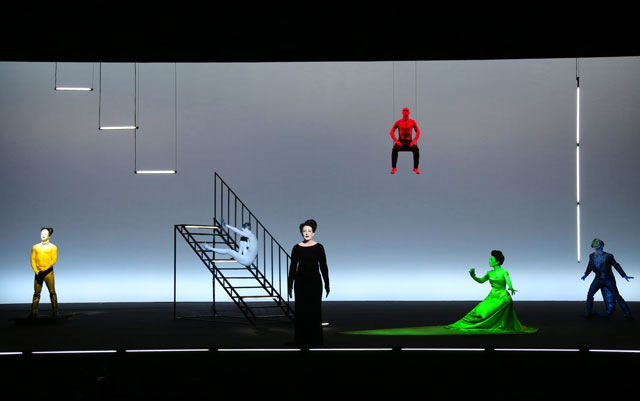 """The Life and Death of Marina Abramović"" at Park Avenue Armory (photo by Joan Marcus)"