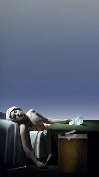 Video Portrait of Lady Gaga as Marat from The Death of Marat by Jacques-Louis David (2013)