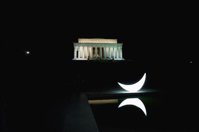 """""""Private Moon"""" at the Lincoln Memorial in Washington, DC"""