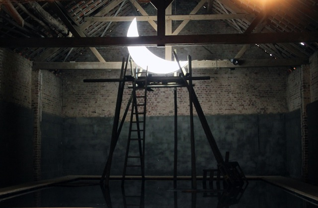 """""""Private Moon"""" installation in Watou in 2013"""