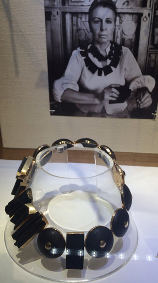 A Louise Nevelson necklace at Didier Ltd.
