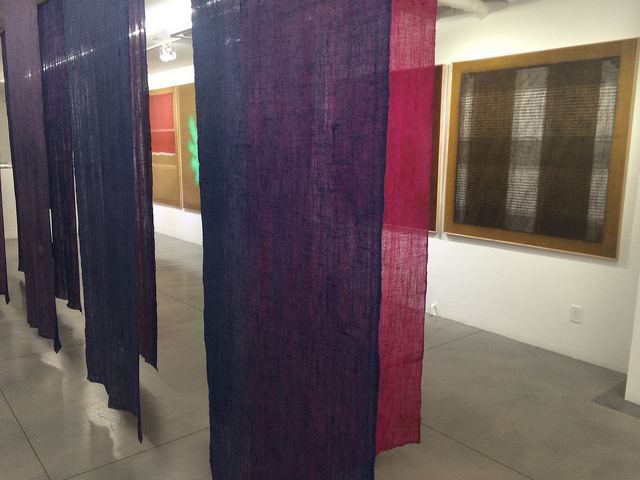 "A view of the ""Transparency"" exhibition at BOSI Contemporary, featuring the work of Salvatore Emblema."