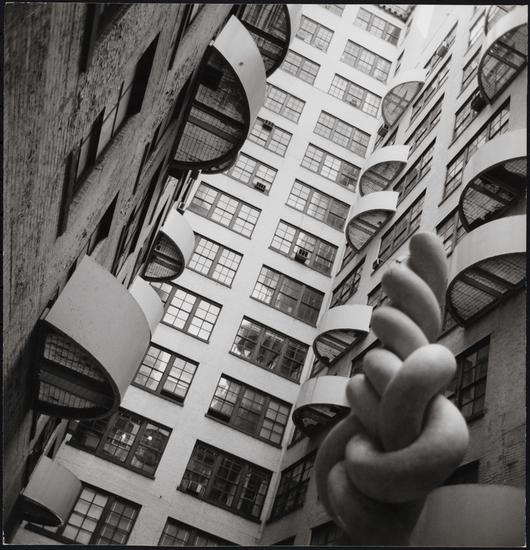 Edmund V. Gillon [Westbeth Center for the Arts, 155 Bank Street.] (c. 1977), gelatin silver print, 7 1/2 x 7 1/4 in