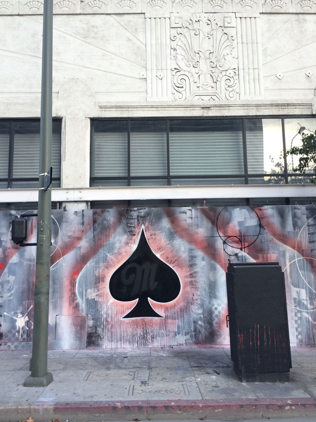 Close-up view of Risk's Miller Fortune mural