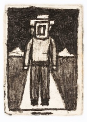 "James Castle, ""Untitled,"" found paper and soot (Smithsonian American Art Museum Gift of the James Castle Collection and Archive and museum purchase through the Luisita L. and Franz H. Denghausen Endowment)"