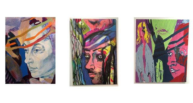 The original painting (left) contrasted with the recreations. (collage by Richard Jacobs)
