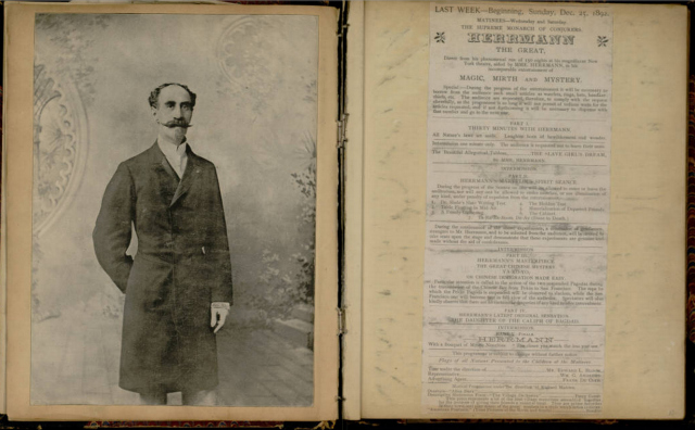"Houdini's ""Dr. Merlin magic scrapbook"" owned by Houdini (1867-96)"