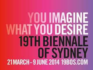 The logo and a sample of the graphic identity of this year's Sydney Biennale. (via sydney.com)