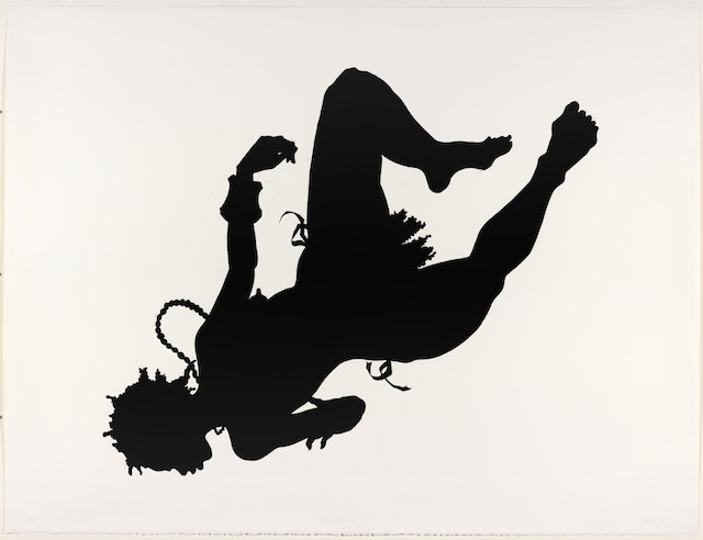 "Kara Walker, ""African/American,"" edition 22/40 (1998). Linocut, framed: 44 x 62"", Collection of Jordan D. Schnitzer © Kara Walker. All images courtesy of the Jordan Schnitzer Museum of Art at the University of Oregon."