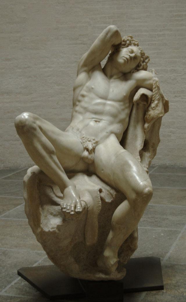 "The original ""Drunken Stayr,"" aka ""Barberini Faun,"" on view at the Glyptothek in Munich (photo via Wikimedia Commons)"