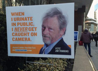 One of the fake election signs (via @yourk44)