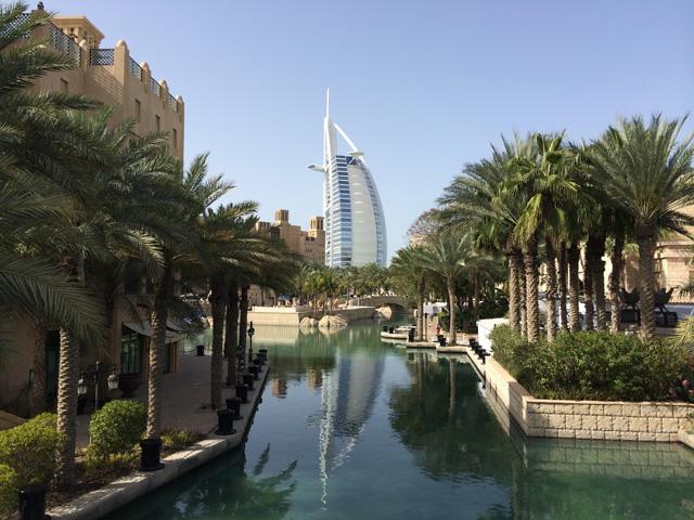 A view of the Madinat Jumeirah resort, where Art Dubai 2014 took place.