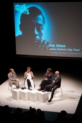 The opening keynote conversation for 'James Baldwin, This Time!,' featuring Jamaica Kincaid, Carrie Mae Weems, and Bill T. Jones