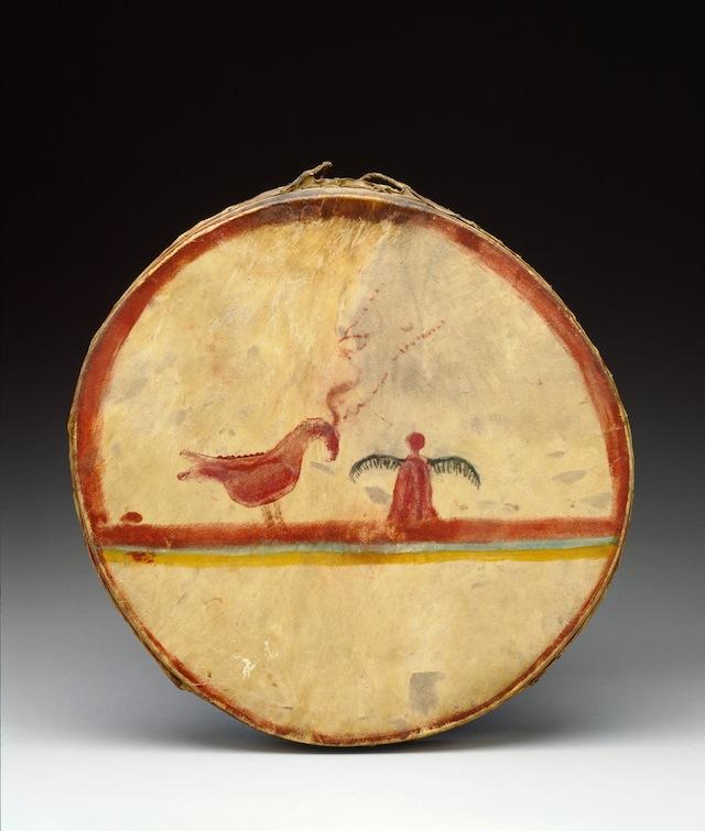 Photo: Detroit Institute of Arts, USA; © bridgemanart.com Chippewa maker unknown Drum, ca. 1840 Wood, deer hide, pigment Collection of the Detroit Institute of Arts