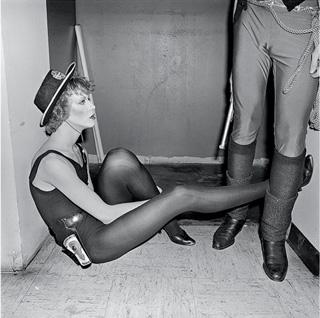 """Merly Meisler, """"Wild Wild West Cowgirl at Rest"""" (Hurrah, Manhattan, March 1978)"""