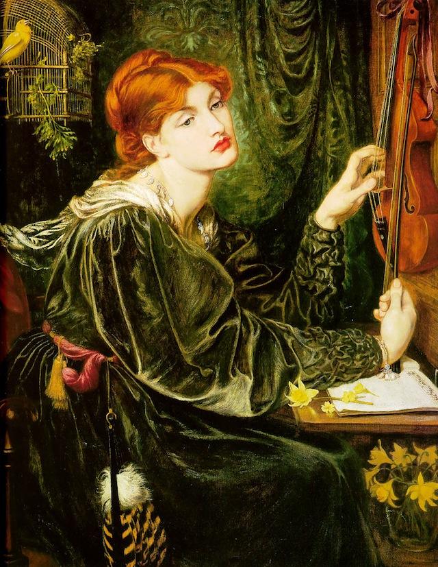 """Dante Gabriel Rossetti, """"Veronica Veronese"""" (1872), oil on canvas (via Wikimedia)"""