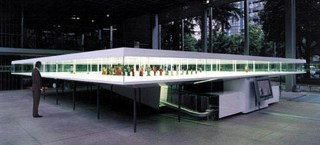 """Diller + Scofidio, """"Master/Slave"""" (1999) Mixed media installation with toy robots from the collection of Rolf Fehlbaum at the Fondation Cartier, Paris"""