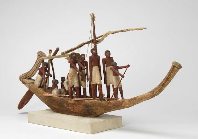 Egyptian, Model of a Funerary Boat, 2100-1900 BCE. Gift of  Mrs. Gustav Radeke. (Images courtesy of the RISD Museum,  Providence, RI.)