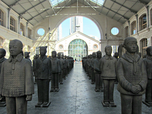 "Prune Nourry, ""Terracotta Daughters"" (2013)"